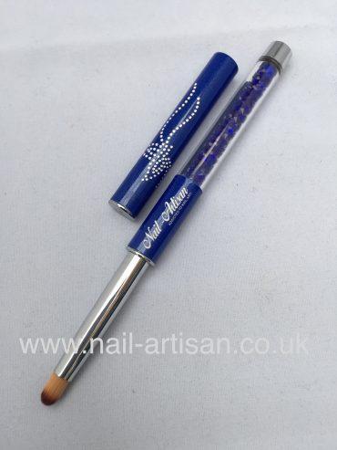 Nail-Artisan Bloomer Nail Art Brush – Blue/Purple