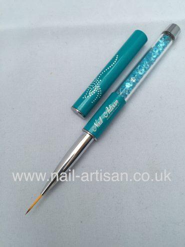 Nail-Artisan Nail Art Striper Brush – Turquoise