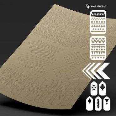 RockNailStar Vinyl Stencils and Stickers – Ethno