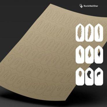 RockNailStar Vinyl Stencils and Stickers – Feathers