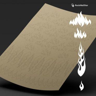 RockNailStar Vinyl Stencils and Stickers – Fire