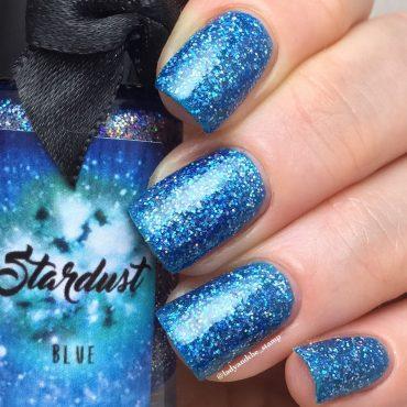 STARDUST – BLUE By Esmaltes da Kelly...