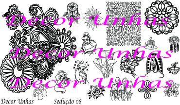 Decor Unhas Seducao 08 Stamping Plate *NEW...