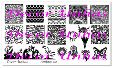 Decor Unhas Amigas 02 Stamping Plate *NEW...
