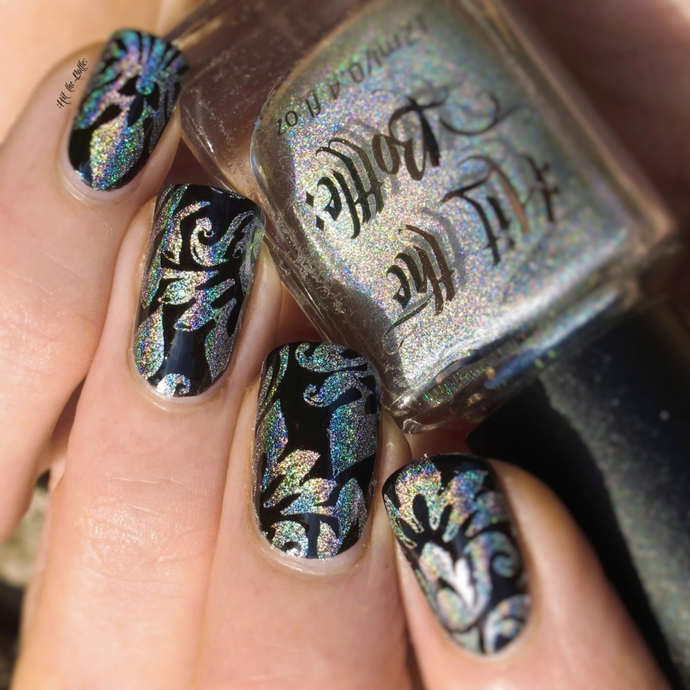 Hit the Bottle Stamping Polish Holo There Beautiful! - Nail-Artisan
