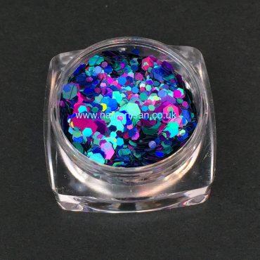 Peacock Tail – Custom Glitter Mix