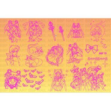 Loja BBF 75 Stamping Plate Sailor Moon