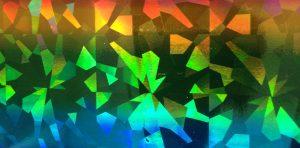 Blue:Green:Orange Diamonds Foil