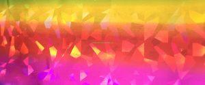 Neon Orange:Yellow:Pink Diamonds Foil