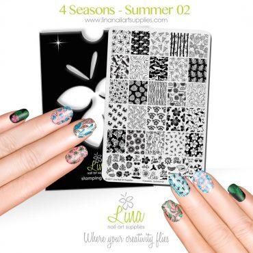 Lina Stamping Plates – 4 Seasons-Summer 02...