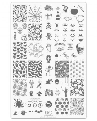 Halloween 03 Uberchic Beauty Nail Stamping Plate Nail Artisan