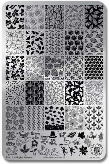 Lina Stamping Plates – 4 Seasons –...