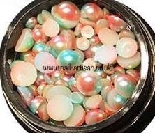 Nail-Artisan Box Of Flat Back Chameleon Pearls...