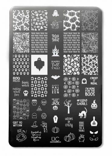 Halloween-04 – UberChic Beauty Nail Stamping Plate