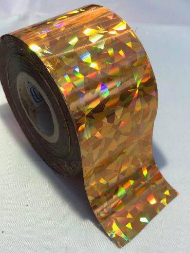Crushed Diamonds Gold Nail Art Transfer Foil