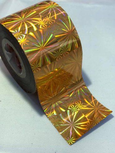 Fireworks Gold Nail Art Transfer Foil