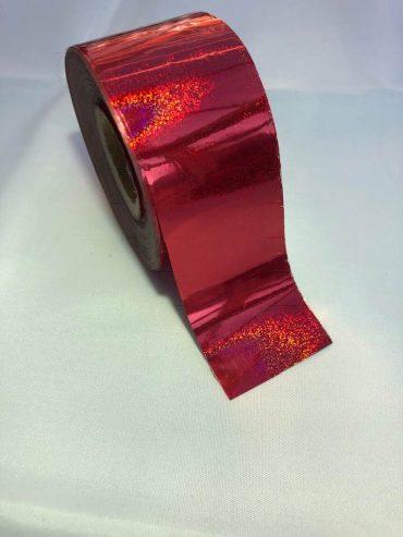 Glitter Bomb Red Nail Art Transfer Foil