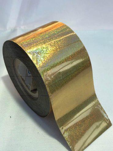 Holo Dust Gold Nail Art Transfer Foil