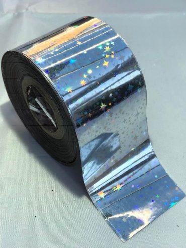 Shooting Stars Silver Nail Art Transfer Foil