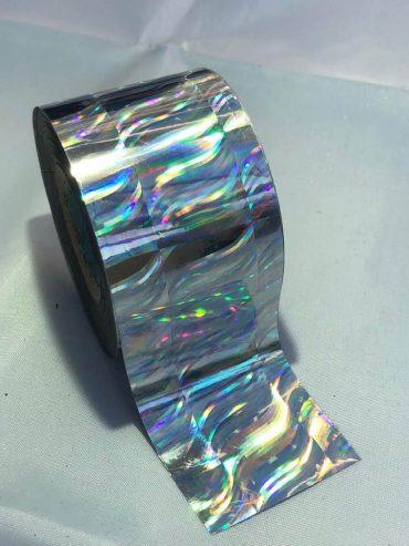 Silver Wave Nail Art Transfer Foil