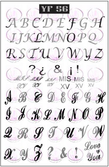 YF56 Alphabet *NEW*